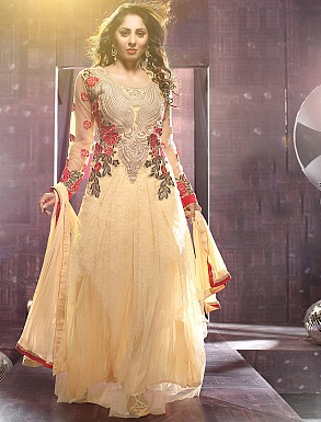 Thankar Sangeeta Ghosh Cream Long Anarkali suit @ Rs1544.00