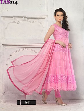 Thankar Fashionable Pink Designer Anarkali Suits @ Rs864.00