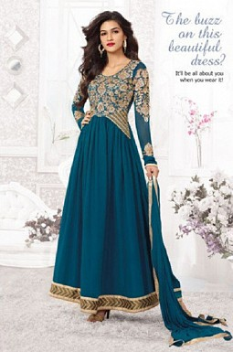 Thankar Kriti Senon New Navy Blue Designer Anarkali @ Rs1173.00
