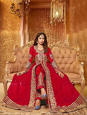 Thankar attractive sangita ghosh red hot anarkali suit @ Rs988.00