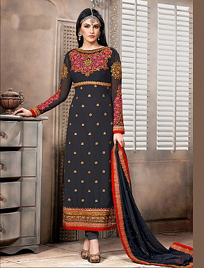 Thankar New Attractive Designer Straight Grey Anarkali Suit @ Rs4325.00