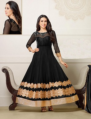 Thankar New Attractive Partyware black Anarkali Suit With full Sleeve @ Rs1730.00