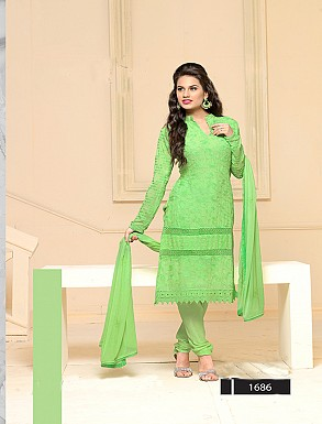 Thankar Latest Designer Heavy Parrot Embroidery Straight Suit @ Rs864.00