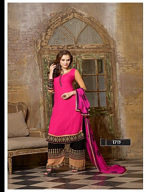 Thankar Latest Designer Heavy Pink Embroidery Straight Suit @ Rs2039.00