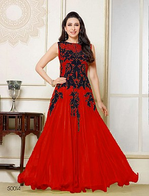 Thankar Latest Designer Heavy Red Embroidery Anarkali Suit @ Rs1050.00