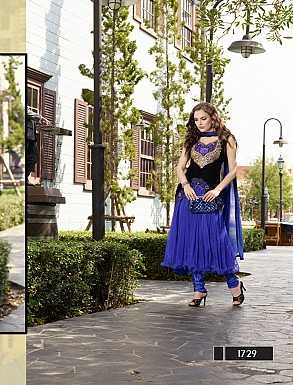 Thankar New Style Designer Heavy Blue Embroidery Anarkali Suit @ Rs1050.00