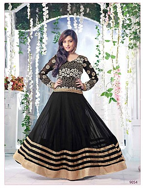 Thankar Fabulous Latest Heavy Designer Black Anarkali Suits @ Rs1977.00