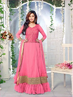 Thankar Fabulous Latest Heavy Designer Pink Anarkali Suits @ Rs1977.00