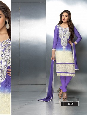 THANKAR LATEST EMBROIDERED DESIGNER BLUE STRAIGHT SUITS @ Rs1421.00