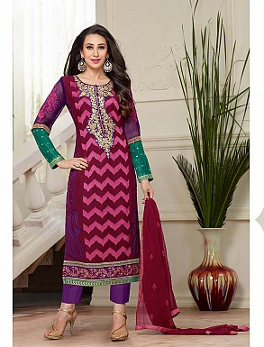 THANKAR NEW DESIGNER PINK STRAIGHT PLAZO SUIT @ Rs2409.00