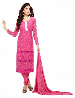 THANKAR NEW DESIGNER DARK PINK STRAIGHT SUIT @ Rs1112.00