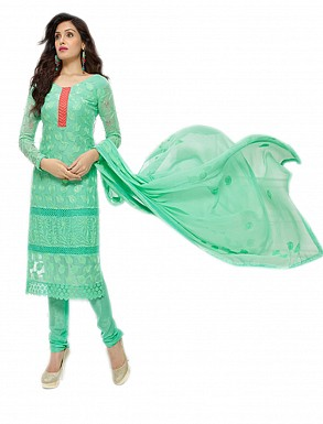 THANKAR NEW DESIGNER AQUA STRAIGHT SUIT @ Rs1112.00