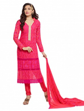 THANKAR NEW DESIGNER PINK STRAIGHT SUIT @ Rs1112.00