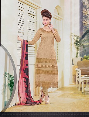 THANKAR NEW DESIGNER CREAM STRAIGHT SUIT @ Rs1173.00