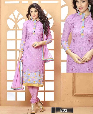 NEW DESIGNER VIOLET STRAIGHT SUIT @ Rs1112.00