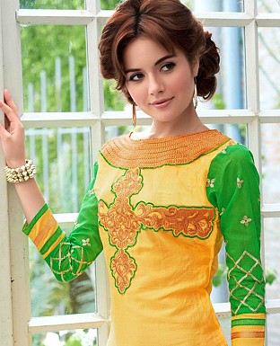 LATEST DESIGNER YELLOW STRAIGHT SUIT @ Rs1359.00