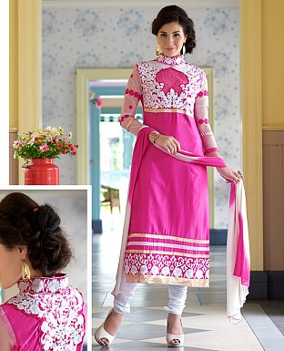 LATEST DESIGNER PINK STRAIGHT SUIT @ Rs1359.00