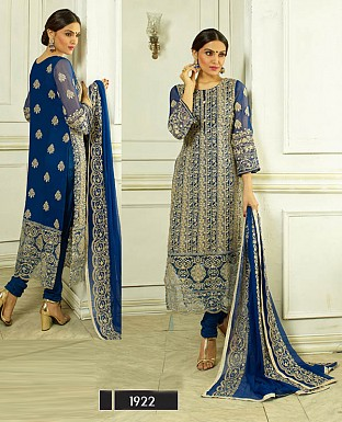 THANKAR LATEST DESIGNER NAVY BLUE STRAIGHT SUIT @ Rs1915.00