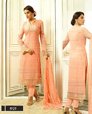 DESIGNER ORANGE STRAIGHT SUIT @ Rs1915.00