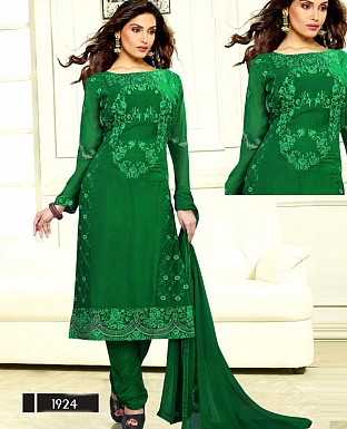 DESIGNER GREEN STRAIGHT SUIT @ Rs1915.00