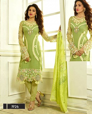 THANKAR LATEST DESIGNER PARROT STRAIGHT SUIT @ Rs1915.00