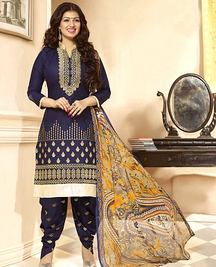 DESIGNER NAVY BLUE SALWAR SUIT @ Rs1112.00