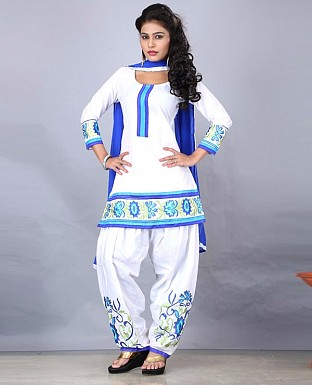 DESIGNER WHITE SALWAR SUIT @ Rs988.00
