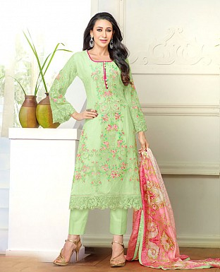 DESIGNER PARROT STRAIGHT PLAZO SUIT @ Rs1915.00