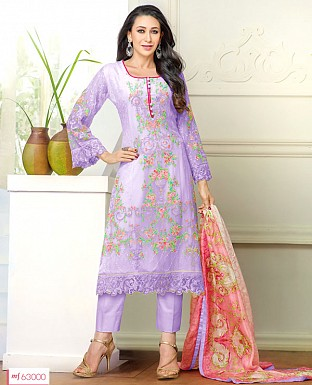THANKAR NEW DESIGNER PURPLE STRAIGHT PLAZO SUIT @ Rs1915.00