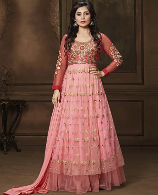 DESIGNER PINK ANARKALI SUIT @ Rs2224.00