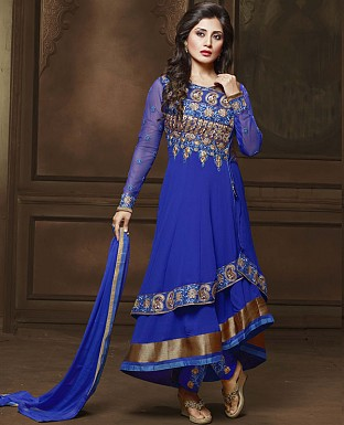 DESIGNER BLUE ANARKALI SUIT @ Rs2286.00