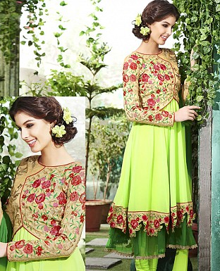 THANKAR NEW DESIGNER PARROT STRAIGHT SUIT @ Rs1915.00