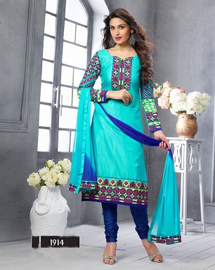 NEW ARRIVAL SKY STRAIGHT SUIT @ Rs1606.00