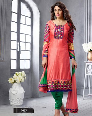 NEW ARRIVAL PINK STRAIGHT SUIT @ Rs1606.00