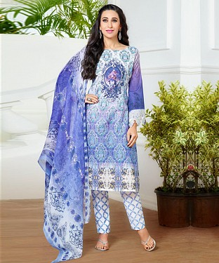 THANKAR LATEST VIOLET COLOUR DESIGNER STRAIGHT SUIT @ Rs1915.00