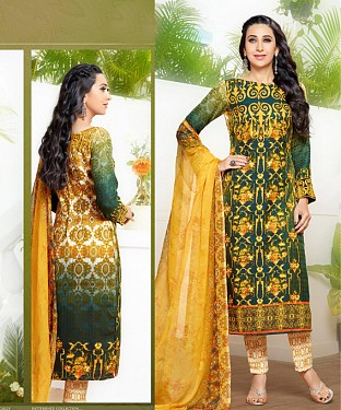 THANKAR LATEST GREEN COLOUR DESIGNER STRAIGHT SUIT @ Rs1915.00