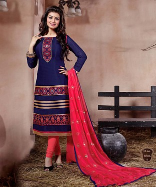 THANKAR BLACK AND RED GORGETTE WITH SIPLI WORK STRAIGHT SUIT @ Rs1791.00