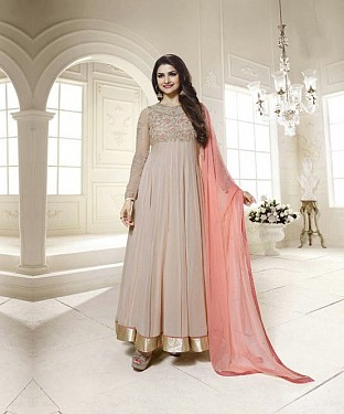 THANKAR LATEST DESIGNER GREY LONG SLEEVE ANARKALI SUIT @ Rs1730.00