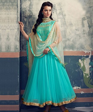 THANKAR SKY NET HEVY EMBROIDERY ANARKALI SUIT @ Rs2224.00