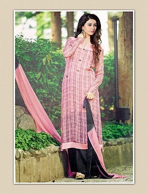 THANKAR PINK GEORGETTE PARTY WEAR STRAIGHT SUIT @ Rs1668.00