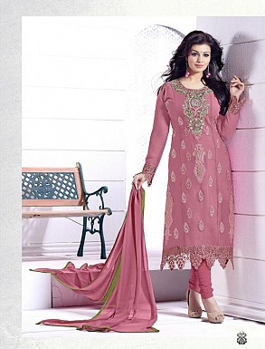 THANKAR PINK HEAVY EMBROIDERY STRAIGHT SUIT @ Rs1915.00