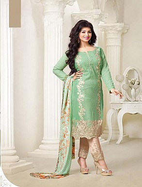 Thankar Exclusive Embroidered Designer Parrot Straight Suits @ Rs2224.00