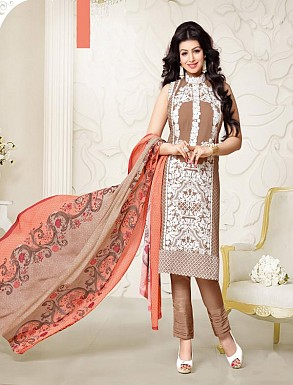 Thankar Exclusive Embroidered Designer Brown Straight Suits @ Rs2224.00