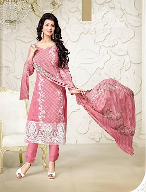 Thankar Exclusive Embroidered Designer Pink Straight Suits @ Rs2224.00