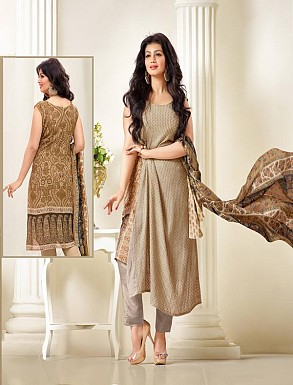 Thankar Exclusive Embroidered Designer Beige Straight Suits @ Rs2224.00