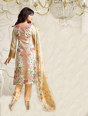 Thankar Exclusive Embroidered Designer Light Yellow Straight Suits @ Rs2224.00