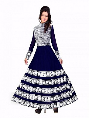 Thankar Exclusive Embroidered Designer Blue Anarkali Suits @ Rs1421.00