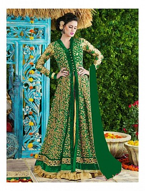 Thankar Green Heavy Designer Net Anarkali Suits @ Rs3645.00