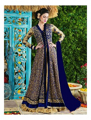 Thankar Blue Heavy Designer Net Anarkali Suits @ Rs3645.00