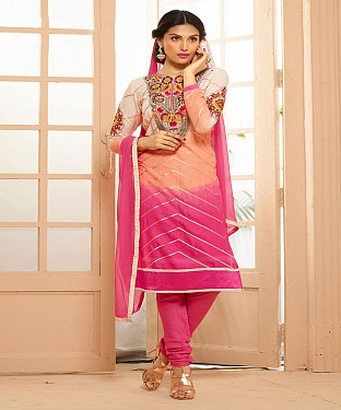 Cotton Embroidered Multy Straight Suits @ Rs1791.00